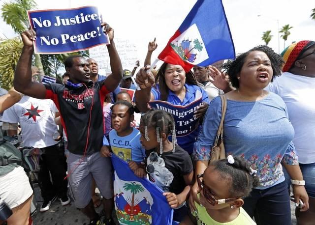 'We need help': Haiti earthquake survivors lack food, shelter 2017-05-31-haitian-tps-rally